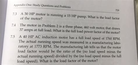 solved a 30 hp motor is running a 15 hp what is the
