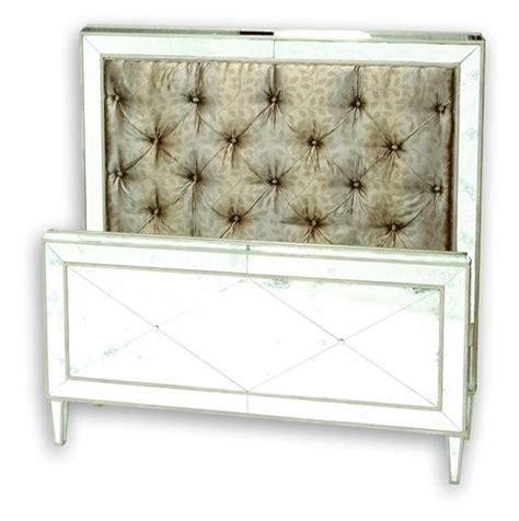mirrored tufted headboard store monroe bed q