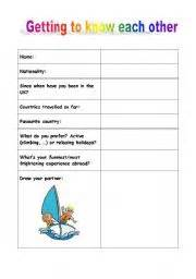 Home gt conversation worksheets gt getting to know each other