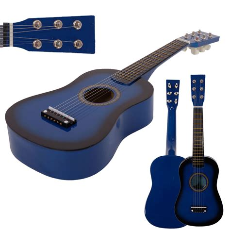 Gitar String New Jreng Mini Akustik new 23 quot plywood acoustic mini guitar 6 string for beginners practice blue ebay