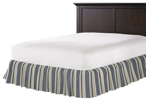 teal bed skirt gray teal and blue stripe ruffle bed skirt contemporary
