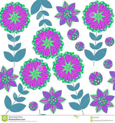 pattern nature colorful cute abstract nature seamless pattern with colorful