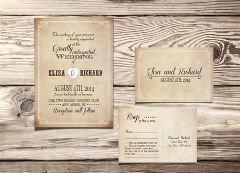 rustic wedding invite template free wedding invitation templates weddingwoow