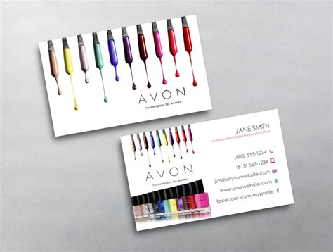 Avon Business Cards Templates Downloads by Avon Business Card 12