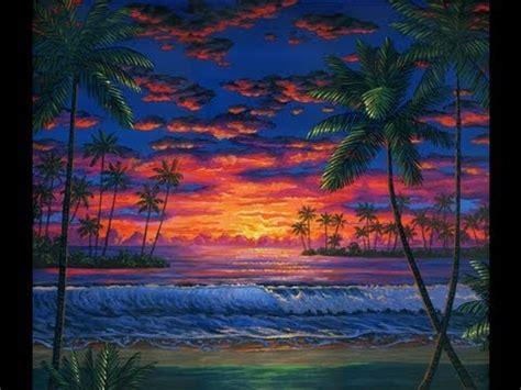 Acrylic Warna bagaimana untuk cat pantai pada waktu senja menggunakan akrilik atas kanvas