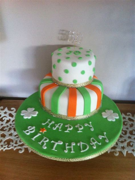 irish cake irish themed 50th birthday cake cakes pinterest 50th