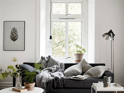 nordic living room cosy vibes in a small scandinavian style apartment