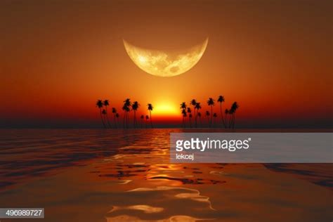 big moon sunset stock photo getty images
