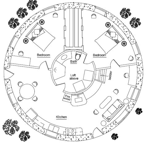 floor plans for round homes round house earthbag house plans