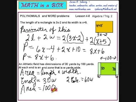 Polynomial Word Problems Worksheet by Writing Polynomials For Word Problems