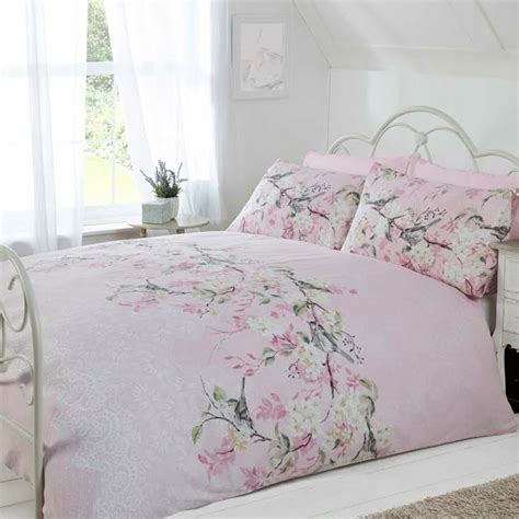 Pretty Bed Sets Pretty Soft Duvet Cover Set With Cherry Blossom Floral Pattern Bedroom Ebay