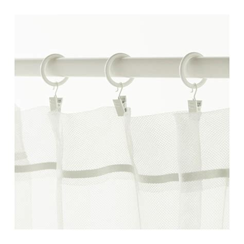 clip on curtain hooks syrlig curtain ring with clip and hook white 25 mm ikea