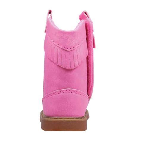 pink infant toddler cowboy western boots w fringe