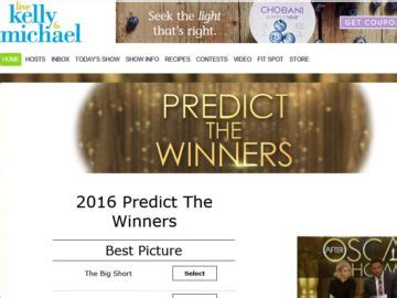 Live With Kelly And Michael Sweepstakes - live kelly and michael predict the winners sweepstakes