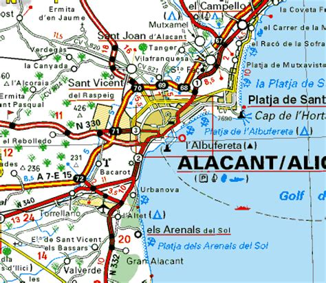 map of alicante city alicante map and alicante satellite image