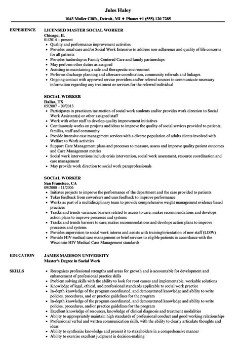 Social Worker Resume by Social Worker Resume Sles Velvet