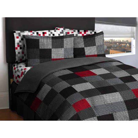 bed in bag comforter sets american original geo blocks bed in a bag bedding