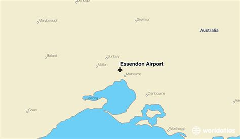 map world essendon essendon airport meb worldatlas