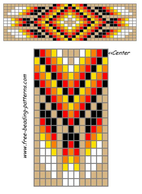 free pattern maker for beading free beading patterns barrette tan red feathers