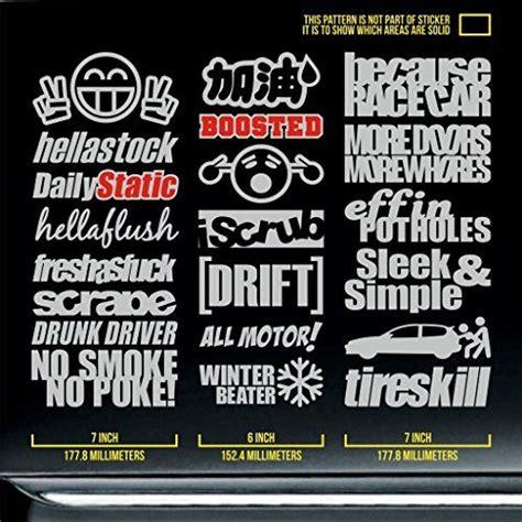 Honda Jdm Sticker Pack by Jdm Sticker Pack Decal Racing Hellastock Boosted Dailysta