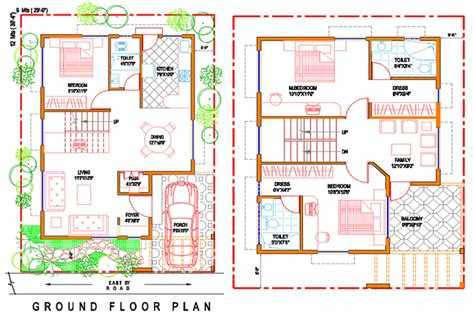 floor plan for 30x40 site ground floor plan home building plans 8285