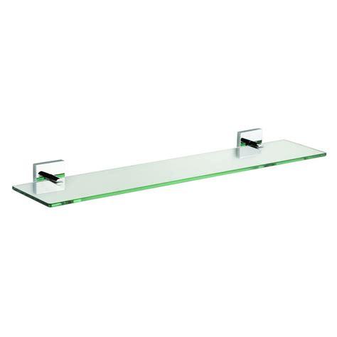croydex chester 23 6 in w flexi fix glass shelf in chrome