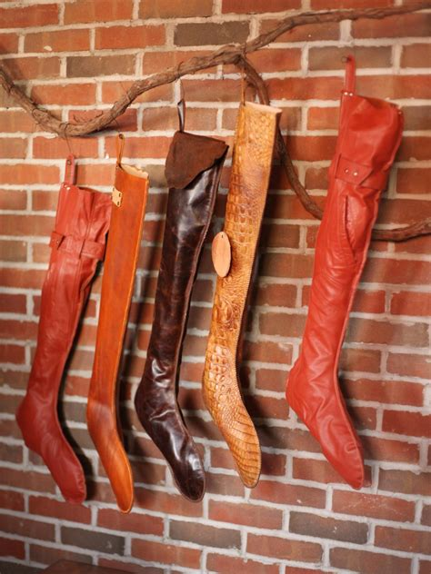 leather christmas stockings hgtv