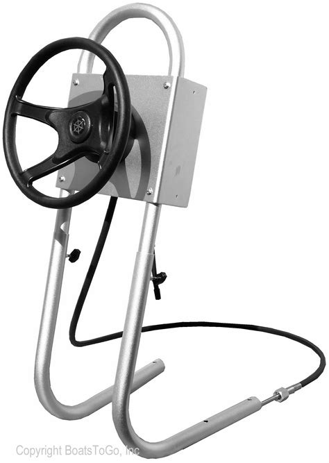homemade boat steering wheel central console system for inflatable boats ribs jon boats