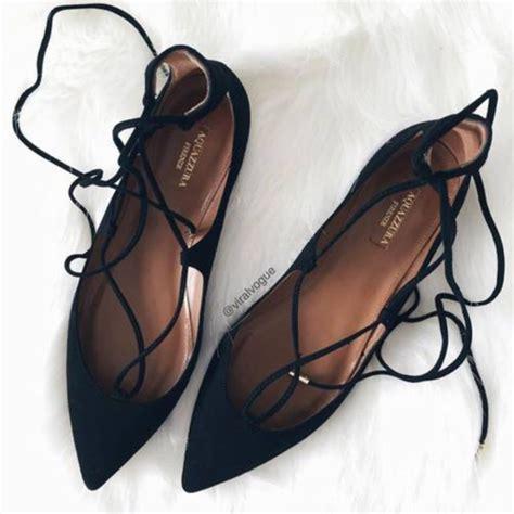 Strappy Flats shoes flats black black shoes black flats flat
