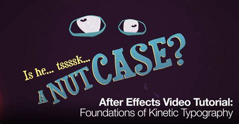 typography tutorial in after effects after effects video tutorial foundations of kinetic