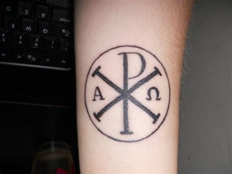 chi rho tattoo chi rho chi rho