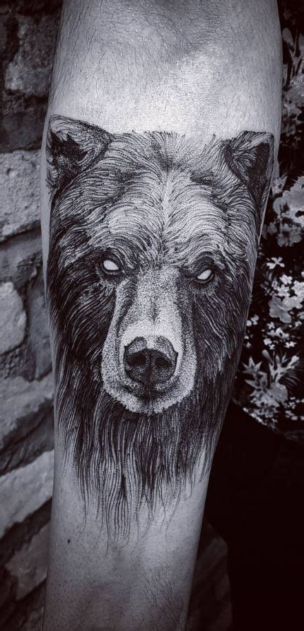 black bear tattoo 30 unique animal designs doozy list