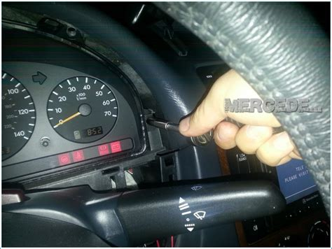how to remove the instrument cluster from an ml class w163