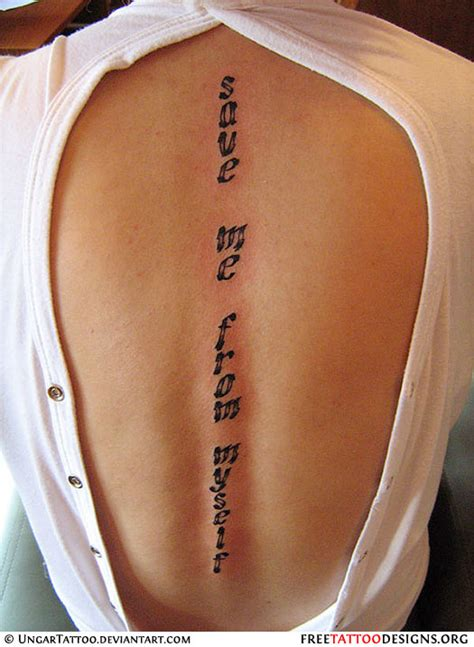 tattoo quotes for your spine quotes tattoos down spine quotesgram