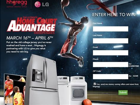 Lg Refrigerator Sweepstakes - the hhgregg the ultimate home court advantage sweepstakes sweepstakes fanatics