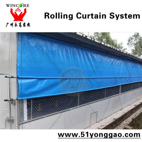 chicken house curtains poultry house curtain rolling curtain system for chicken