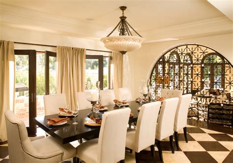 Dining Room Los Angeles by La Itallian Villa Hillside Home Mediterranean Dining