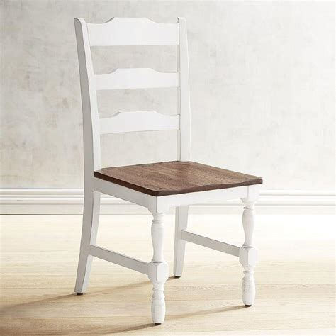 Heartland Distressed White Dining Chair Distressed Wood Dining Chairs