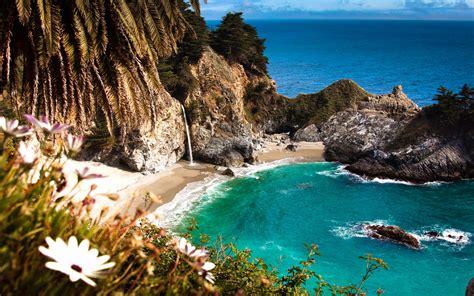 mcway falls cove california usa super cool beaches