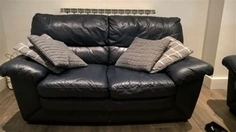 navy leather sofa for sale in lucan dublin from gimpy