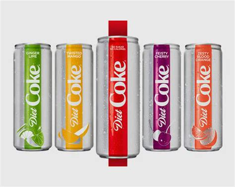 Cherry Coke Unveils Designer Cans by Diet Coke Unveils New Look 4 New Flavors
