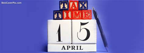 tax time  april facebook cover photo