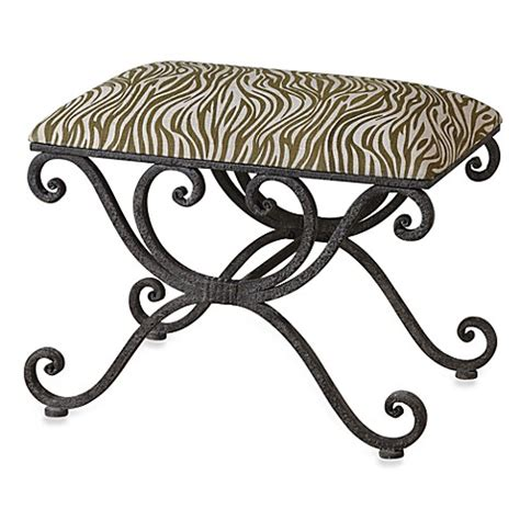 small wrought iron bench buy uttermost aleara wrought iron small bench from bed