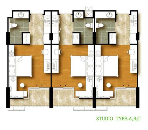 types of floor plans studio type floor plan