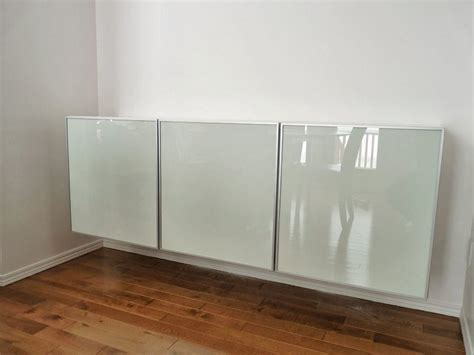 credenza ikea how to turn three ikea besta cabinets into a floating
