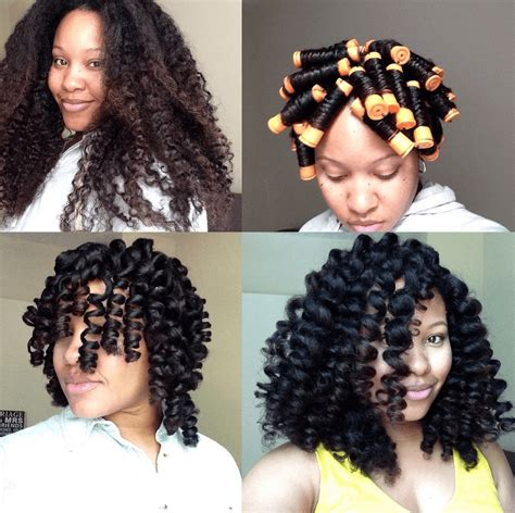 natural hairstule using perm rods natural hair styles that you should try