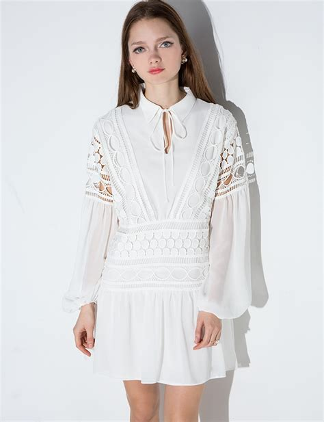 Flowy Baloon Sleeve Top white lace dress white balloon sleeve dress