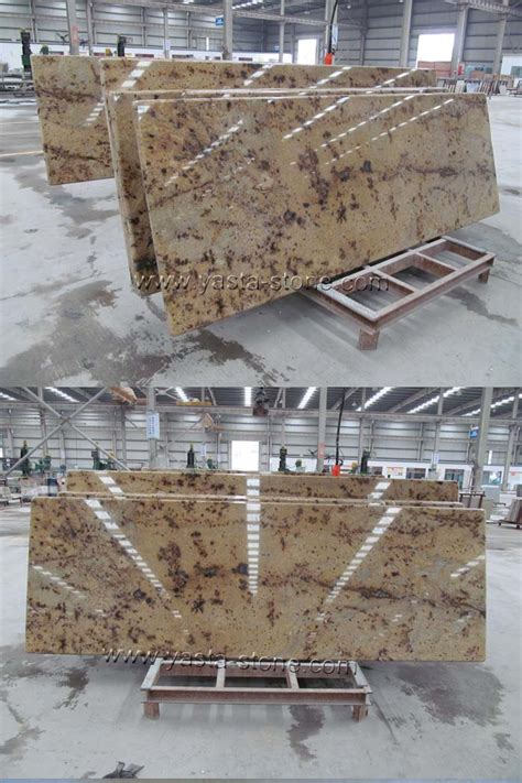 prefab kitchen countertops island tops china countertops leopard yellow prefabricated granite island tops china