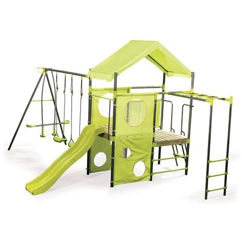 swing set swing slide climb manor swing set bunnings warehouse