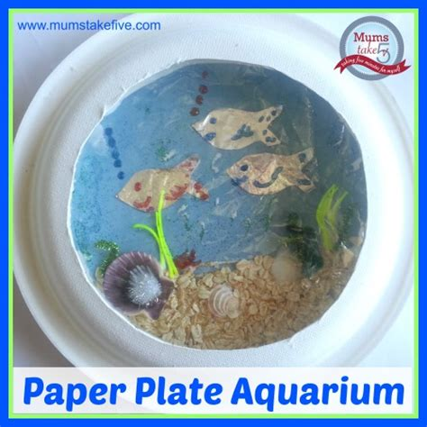paper plate aquarium craft theme crafts for